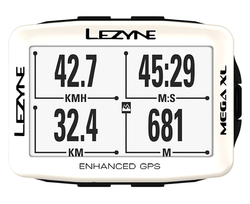 LEZYNE MEGA XL GPS WHITE Limited - 0