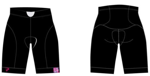 PINARELLO Corsa Women ショーツ BLK/PNK - 0